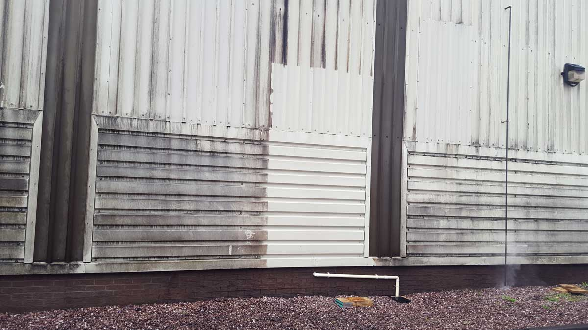 Cladding cleaning - example